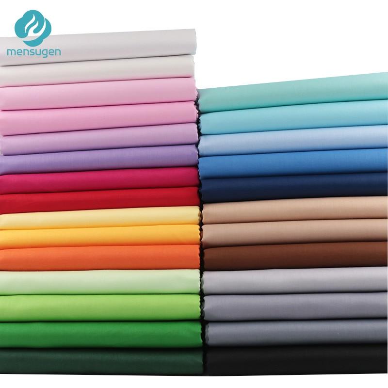 Тканевые метры, однотонная 100% хлопчатобумажная ткань для одежды, детские платья, простыня для шитья детской одежды, Обложка, ткань для шитья...