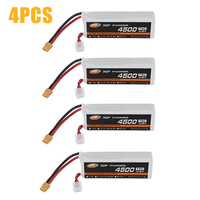 1/4 PCS XF 11.1V/14.8V 4500mAh 75C 3S/4S Rechargeable Lipo Battery XT60 Plug for RC Drone DIY Accessories
