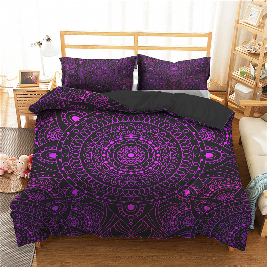 A Bedding Set 3D Printed Duvet Cover Bed Set Bohemian Mandala Home Textiles For Adults Bedclothes With Pillowcase #MTL07