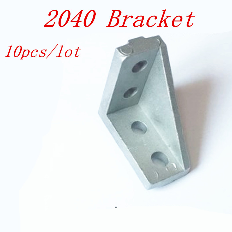 10pcs 2040  Corner Bracket Fittings Slot 6 Corner Angle L Breakets Connector For 2020 Aluminum Profile Accessories