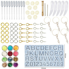 1 Set Epoxy Resin Alpha silicone mould Kit Jewelry Casting Tools DIY Handmade Findings Silicone Mold Spoon Alphanumeric mould