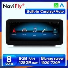 Autoradio Android 10, 8 go/128 go, CarPlay, GPS, dvd, sans fil, pour voiture Mercedes Benz classe C W205, classe GLC X253, classe V W446, 5.0