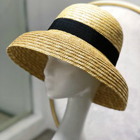 Hepburn Style Women Summer Hats Beach 2019 Natural Color Flat Large Wide Brim Hat Boater Straw Fedora Bowknot Girls Sun Caps