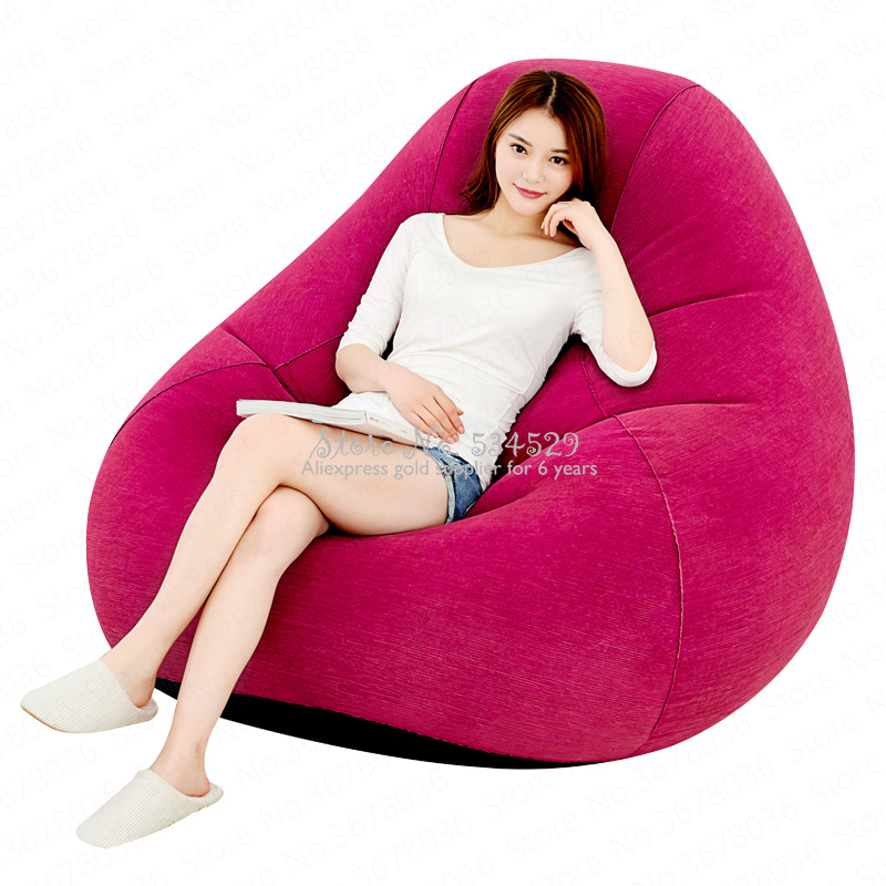 21%Inflatable Sofa Single Lazy Couch Chair Cute Office Bedroom Leisure Air Cushion Sofa Bed Recliner