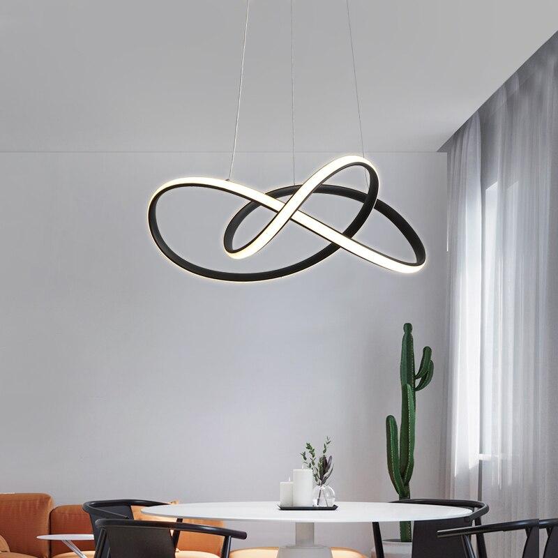 Moderne pendentif LED lumière hôtel bar simple restaurant salon salle à manger lumières chambre luminaires en aluminium maison pendentif lampe