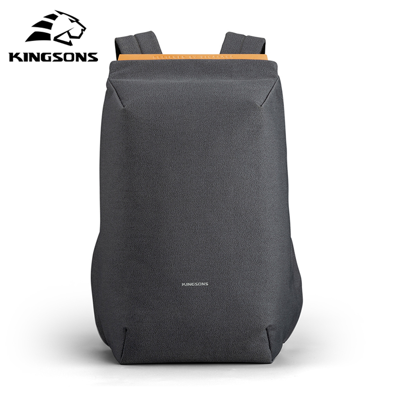 Kingsons Women Backpack Laptop School-Bag Usb-Charging Travelling Anti-Theft Waterproof