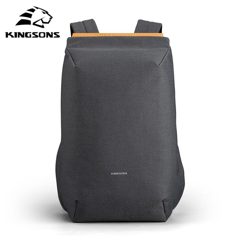 Kingsons 2020 Новые водонепроницаемые Рюкзаки USB зарядка школьная сумка противокражный мужской и женский рюкзак для ноутбука путешествия mochila