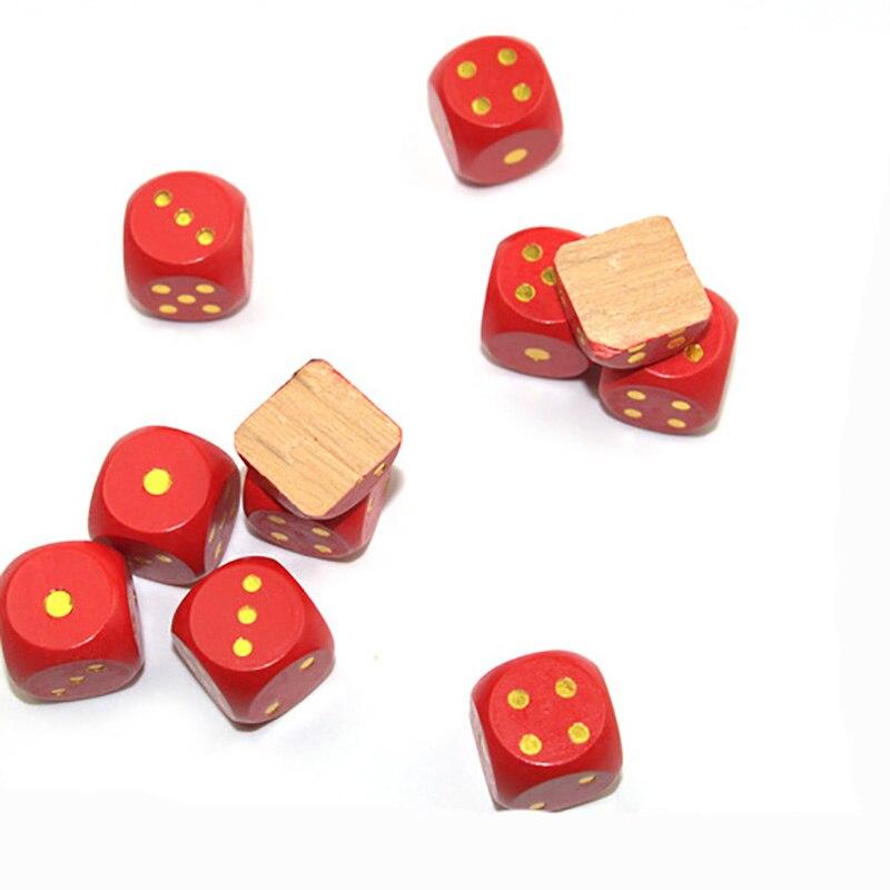 5 шт./компл. 30 мм точка кубики Круглый Coener набор Игральный костей деревянный 6 двухсторонний красочный точечный кости Настольная игра аксессуар
