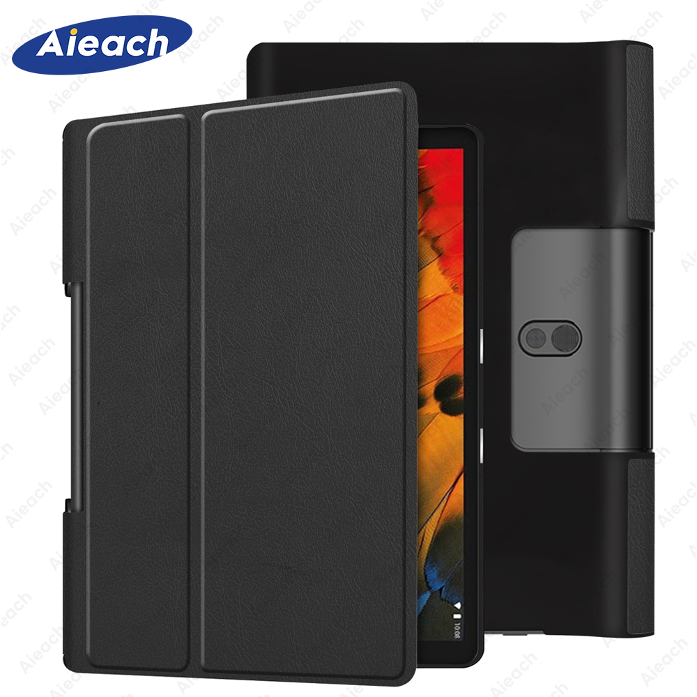 Cover For <font><b>Lenovo</b></font> Yoga smart tab 10.1 case YT-<font><b>X705F</b></font> 2019 Ultra thin PU Leather Stand Flip Case for <font><b>Lenovo</b></font> Yoga Tab 5 Case Coque image