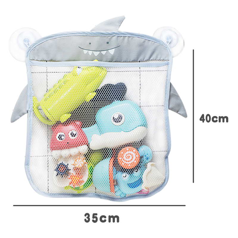 Baby Bath Toys Cute Duck Frog Mesh Net Toy Storage Bag Strong Suction Cups Bath Game Bag Bathroom Organizer Water Toys for Kids 5