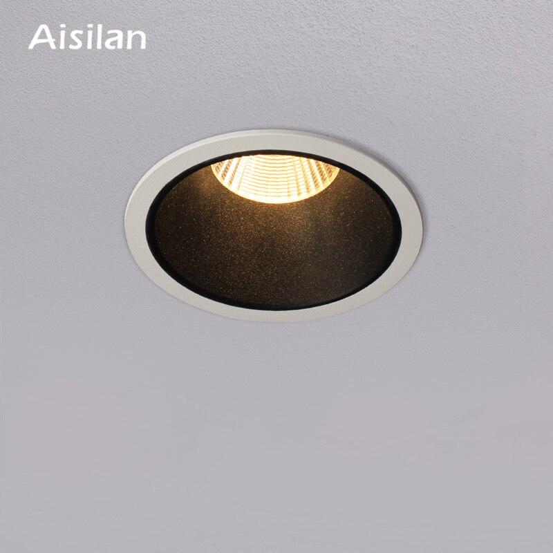 Aisilan светодиодный светильник с узкой каймой точечное освещение для дома Встраиваемая высокая светоотдача потолочный Лампа высокой яркости...