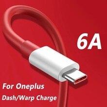 6a flash carregador cabo para oneplus nord warp carga tipo-c traço cabo para um mais 8 7 pro 7 t 7 t 6t 6 5t 5 3t 3 warp carregador