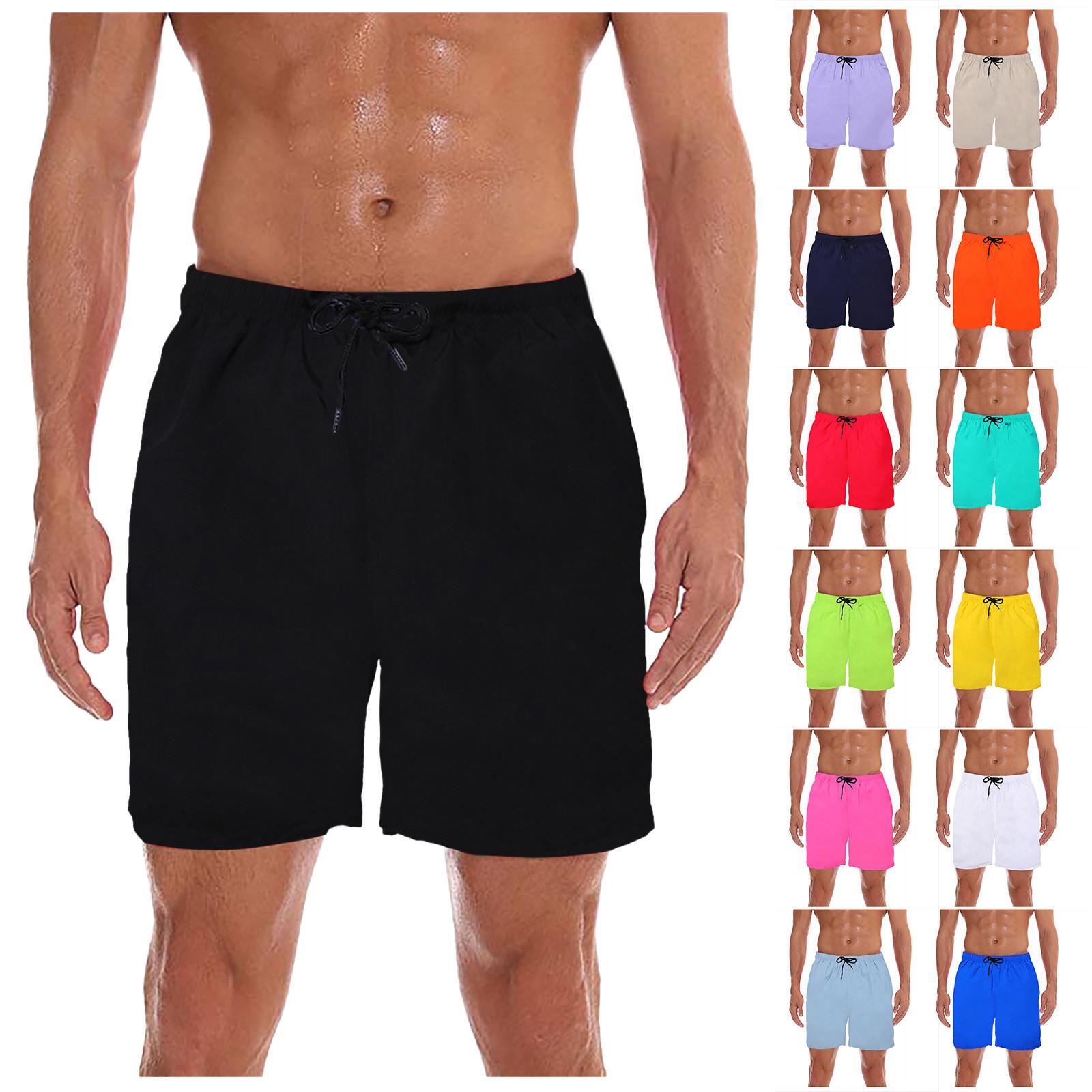 Men Beach Shorts Quick Dry Waterproof Swimming Short Trunks 2021 Low Waist Surf Swimsuit Swimwear Shorts Quick Dry