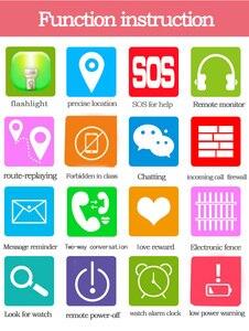 Image 4 - Los niños Smartwatch niños niñas reloj inteligente para niños con GPS a prueba de agua/LBS rastreador juegos SOS llamada de alarma linterna voz C