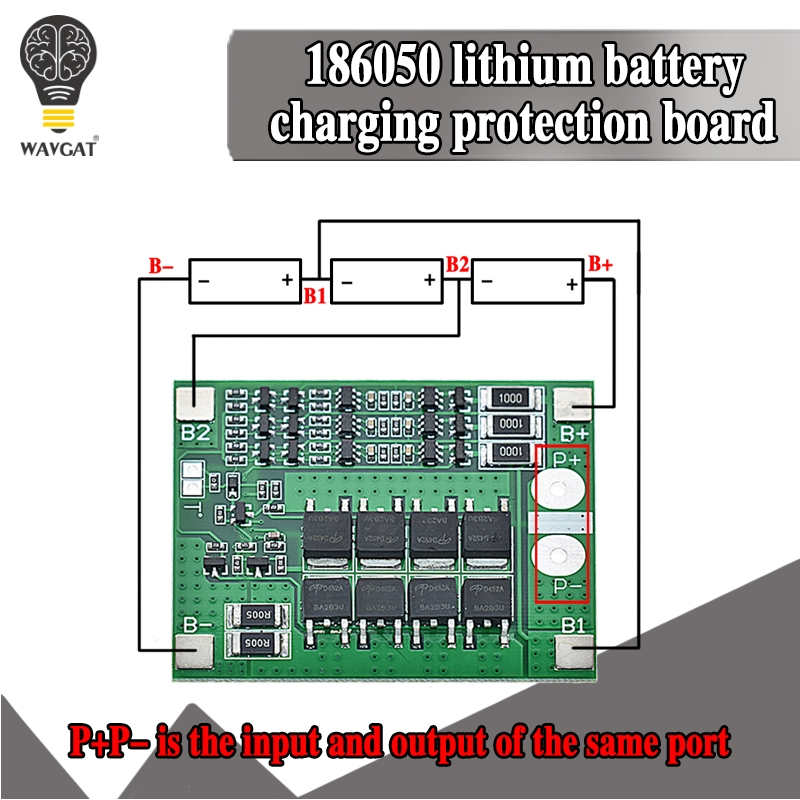 3S 25A Li-ion 18650 BMS PCM Battery Protection Board Bms Pcm With Balance For Li-ion Lipo Battery Cell Pack