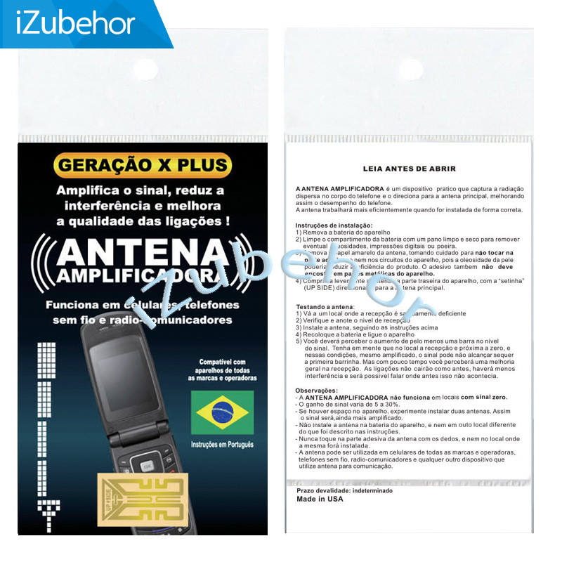 New Shiny Cell Phones Antenna Booster Amplifier Signal Sticker Generation X Plus X-Plus In Portuguese Packing 500pcs/lot