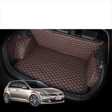 Lsrtw2017 Leather Car Trunk Mat Cargo Liner for Volkswagen Golf Mk7 2012 2013 2014 2015 2016 2017 2018 2019 gti vw accessories