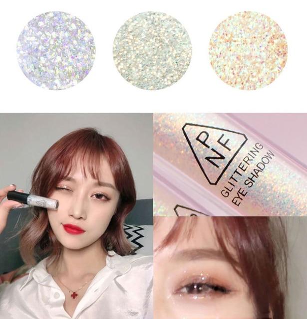 Mermaid Maquiagem Glitter Eyeshadow Gel Makeup Glitter Eye Liquid Pigments Eye Shadow Gel For Face Highlighter Body Hair Beauty 2