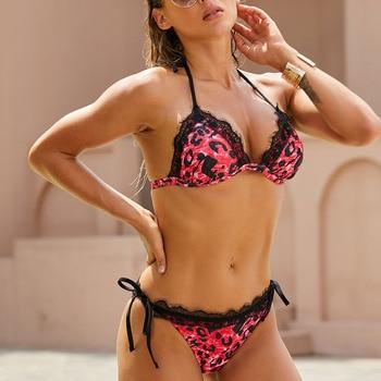 Frauen Bikini Spitze Bademode Push-Up Badeanzug Brasilianisch 1