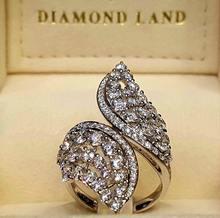 Элегантные женские кольца роскошное свадебное кольцо с искусственным
