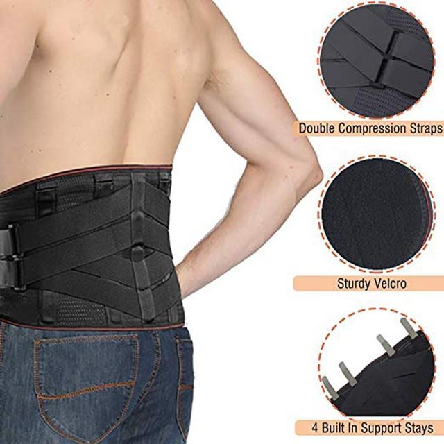 Lower Back Support For Men And Women Neoprene Waist Support Gym Waist Protector Fitness Lumbar Sweat Belt Sport Accessories 4