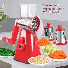 Coupe-légumes manuel 3 en 1, pommes de terre et fromage, outil de cuisine multifonctionnel, trancheur rond, râpe rotative