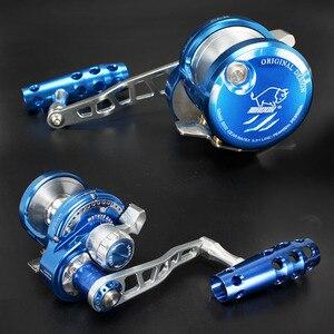 Image 3 - Madox moulinet en alliage de métal, avec alarme, pour pêche en mer, en haute mer, avec frein de 30kg Max, 11BB, Pe4 à 400m, pour Slow Jigging