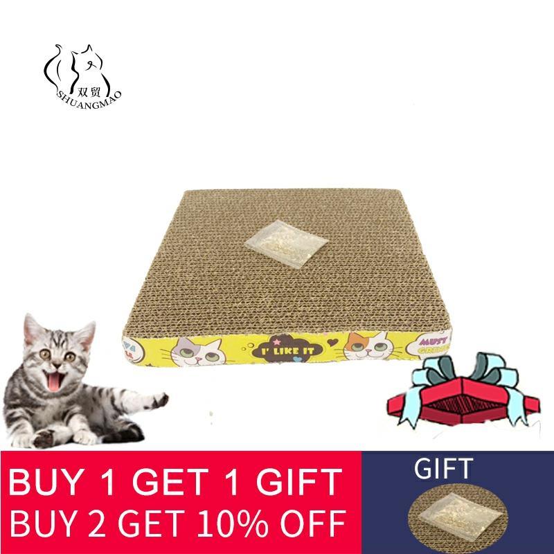 Cat Toys Cat Scratcher Board Pad Scratching Kitten products Corrugated Paper Pad Cats Nail Scraper Mat Mattress Gift Catnip