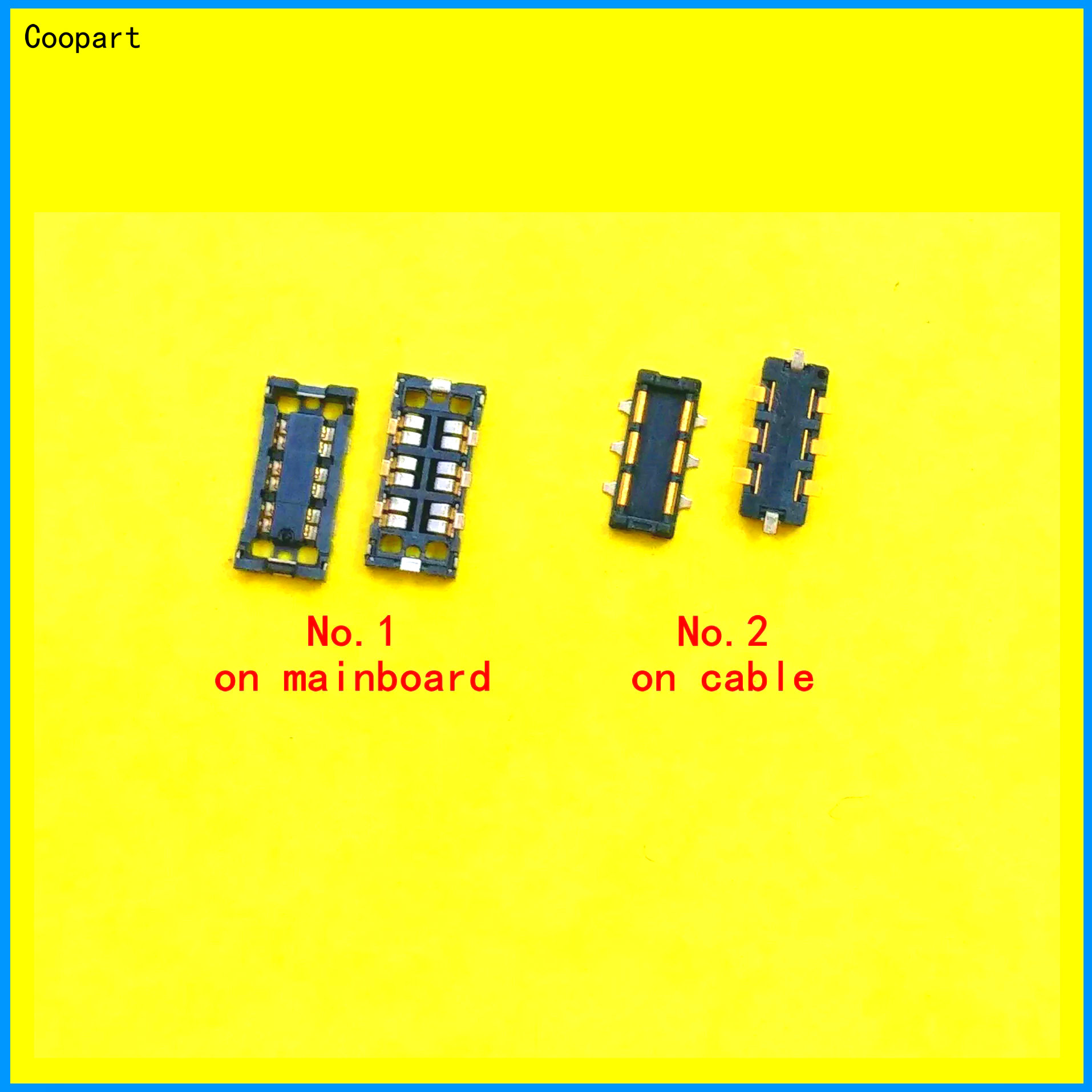 2pcs Coopart New FPC Inner Battery Connector Holder Clip Contact For Oneplus 3 3T 5 5T 6 7 / A3000 A3010T A5000 A5010