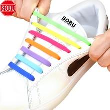 Lacets élastiques en Silicone sans cravate lacets élastiques paresseux pour hommes femmes laçage enfants baskets adultes lacets 13 couleurs