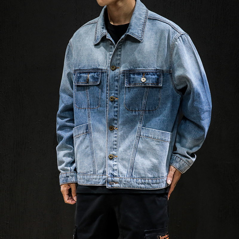 Men Bomber Jacket Hip Hop Hoodies Denim Jackets Male Casual Motorcycle Jacket