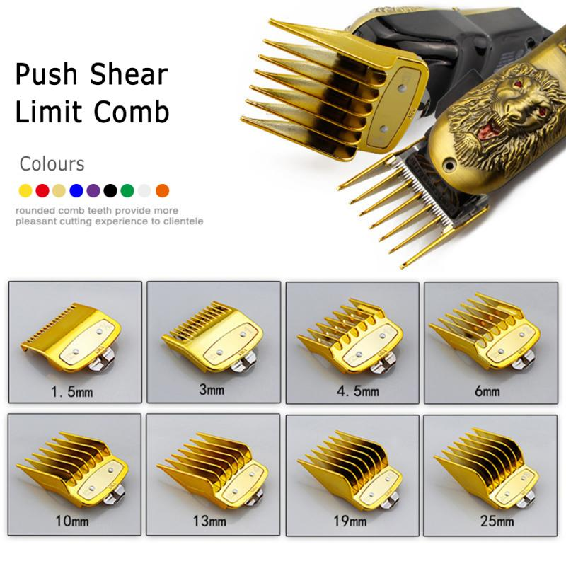 8PCS/set Professional Limit Comb Cutting Guide Combs 1.5/3/4.5/6/10/13/19/25mm Set Fits All Full Size Hair Clipper Cutting
