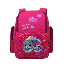 Nowe dziewczęce plecak szkolny ortopedyczny dla dzieci plecaki dla królików sowa dla dzieci 3D klasa 1-4 torba szkolna dla uczniów
