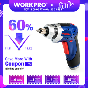 Image 1 - WORKPRO 3.6V Cordless Screwdriver Foldable Electric Screwdriver Rechargeable Screwdriver with Work Light