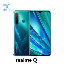 Realme Q 6.3 ekran Dewdrop Snapdragon 712AIE Octa Core 4035mAh 48MP Quad Camera VOOC szybkie ładowanie telefonów komórkowych