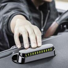 6 функций светящаяся Автомобильная Временная парковочная карта наклейка с Освежителем воздуха для автомобиля номер телефона карта Пластина Автомобильные аксессуары