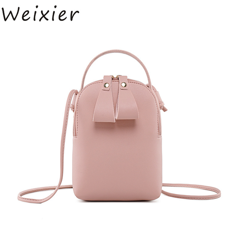 Fashion For Women Solid PU Lether zipper Shoulder Bag Casual Crossbody Bag Messenger Phone Coin Bag Small korean Style V4-31