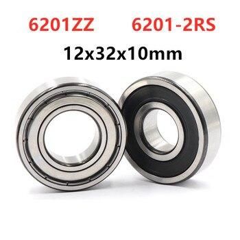 20pcs/lot 6201ZZ 6201-2RS  Shielded  Deep Groove Ball Bearing 12*32*10 Mm  6201 -2Z 6201RS  Bearings 12x32x10