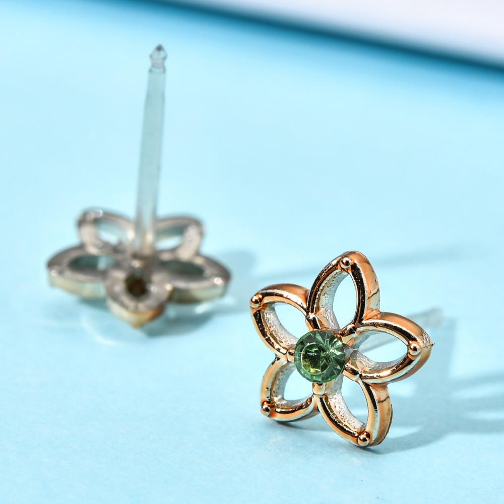 Cute Mix Style Enamel Acrylic Crystal Women Girl Small Stud Earrings Kids Rhinestone Christmas Earring Jewelry Gift