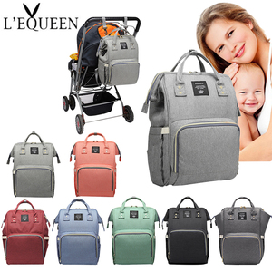 Lequeen Baby Diaper Bag with USB Large Waterproof Nappy Bags Kits Mummy Maternity Travel Backpack Nursing Bag with Hook wet bag