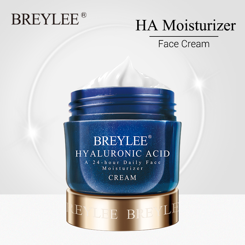 BREYLEE Hyaluronic Acid Moisturizer Face Cream For Expensive Whitening Facial Skin Care A 24-hour Daily Acne Treatment Cream 40g