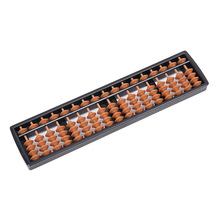 17Digits Plastic Abacus Beads Column Kid School Learning Aids Tool Business Traditional Abacus Educational Math Montessori Toys 9 column hangering plastic abacus chinese soroban tool in mathematics education for teacher calculation tool xmf007