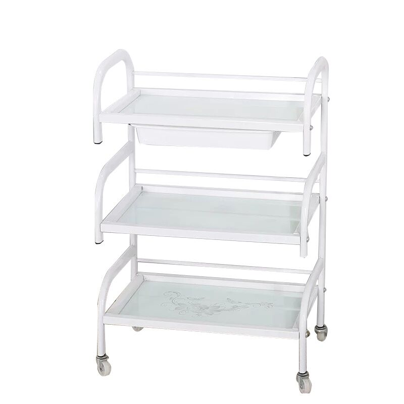 Special Hairdressing Beauty Trolley Three-layer Hair Salon Beauty Salon Trolleys Barber Shop Tool Cabinet