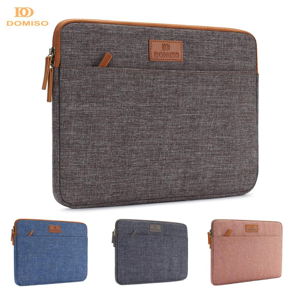 DOMISO 10 11 13 14 15 6 Inch Laptop Sleeve Canvas Case Tablet Bag Protect Computer