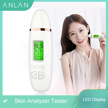 LED Display Skin Analyzer Tester Digital Facial Moisture Oil Analyzer Face Skin Sensor Monitor Oil Detector Skin Care Tool
