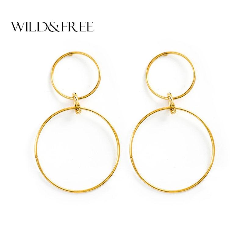 Géométrique Cercle Cerceau Boucles D/'oreilles Big Round Dangle Clous Boucles d/'oreilles vintage bijoux