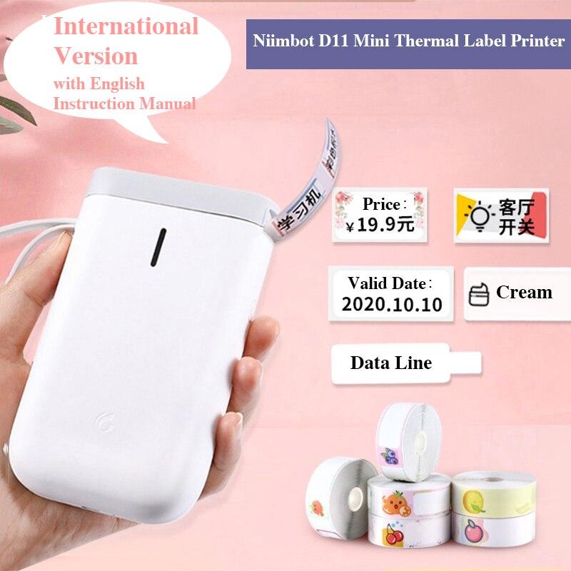 Беспроводной мини термопринтер для этикеток Niimbot D11, портативный карманный принтер для этикеток с международной версией, принтер для офиса и дома|Принтеры| | АлиЭкспресс