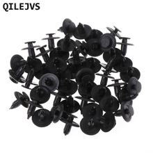QILEJVS 50 Pcs Black Car Door Fender Trunk Fastener Panel Clips Rivet 6mm Hole For Mazd