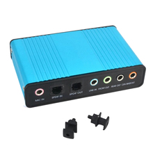 Audio USB Optical-Adapter-Card Laptop Speaker Sound-Card External-Channel for PC