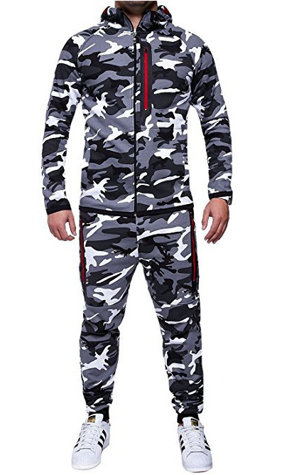 2018 New Products Men Camouflage Sports Leisure Suit Tops + Pants